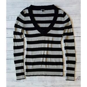 Express silver striped sweater